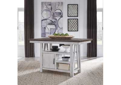 Image for Farmhouse Two Tone White  Gathering Table