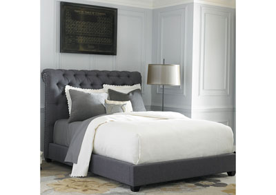 Image for Upholstered King Chesterfield Sleigh Bed