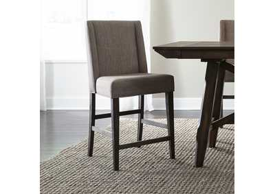 Image for Double Bridge Dark Chestnut Upholstered Counter Chair (RTA)