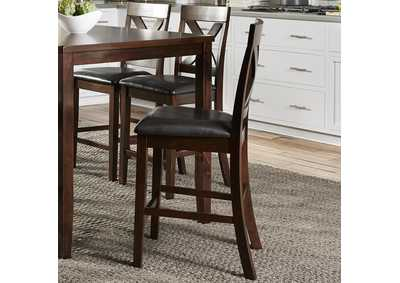 Image for Thornton Russet X Back Counter Chair- Qty 1