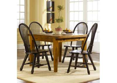 Image for Treasures Rustic Oak Opt 5 Piece Retractable Table Set