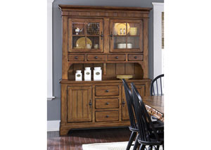 Image for Treasures Rustic Hutch - Oak