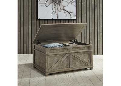 Image for Parkland Falls Taupe Storage Trunk