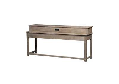 Image for Parkland Falls Weathered Taupe Console Bar Table