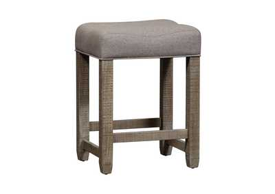 Image for Parkland Falls Weathered Taupe Upholstered Console Stool