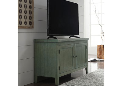 Image for Boho Loft Blue/Cream/Rust 48 Inch TV Console - Green
