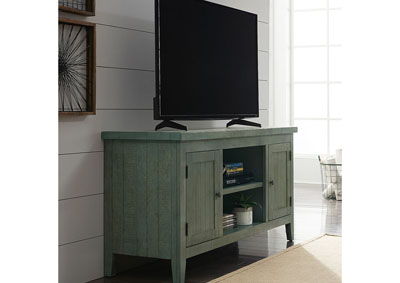 Image for Boho Loft Blue/Cream/Rust 54 Inch TV Console - Green