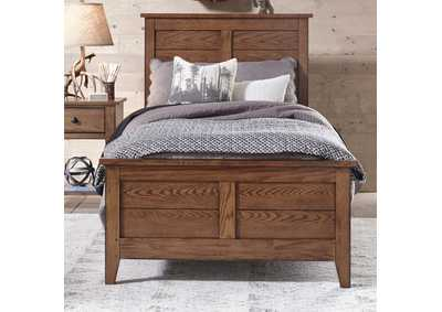 Image for Grandpas Cabin Aged Oak Full Panel Bed