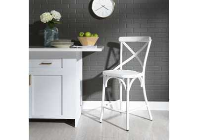 Image for Vintage Series Antique White X Back Counter Chair