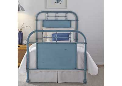 Image for Vintage Series Twin Metal Bed - Blue