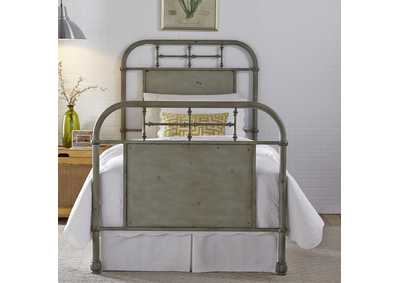 Image for Vintage Series Twin Metal Bed - Green