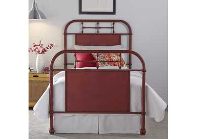 Image for Vintage Series Twin Metal Bed - Red