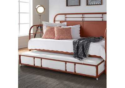 Image for Vintage Series Orange Metal Twin Daybed w/Trundle
