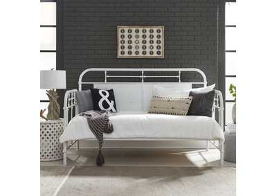 Image for Vintage Series Antique White Twin Metal Day Bed - Antique White
