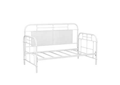 Image for Vintage Series Distressed Metal Twin Metal Day Bed - Antique White