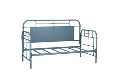 Image for Vintage Series Distressed Metal Twin Metal Day Bed - Blue
