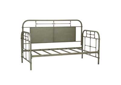 Vintage Series Distressed Metal Twin Metal Day Bed - Green