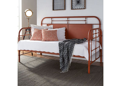 Image for Vintage Series Twin Metal Day Bed - Orange