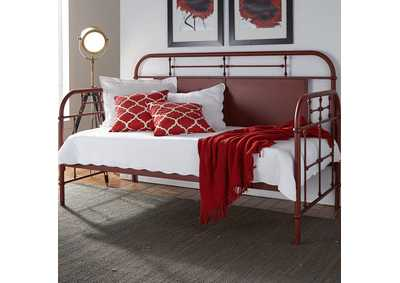 Image for Vintage Series Red Twin Metal Day Bed - Red