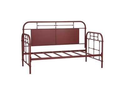 Vintage Series Distressed Metal Twin Metal Day Bed - Red