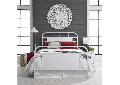 Image for Vintage Series Antique White Metal Queen Bed