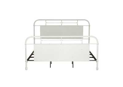 Image for Vintage Series Distressed Metal Queen Metal Bed - Antique White