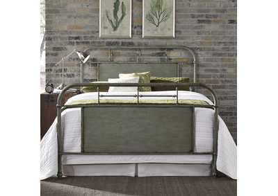 Image for Vintage Series Grey Metal Queen Bed