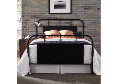 Image for Vintage Series Blue Metal King Bed - Black