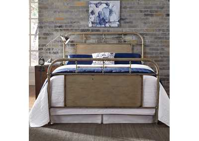 Image for Vintage Series Vintage Cream Metal King Bed - Vintage Cream