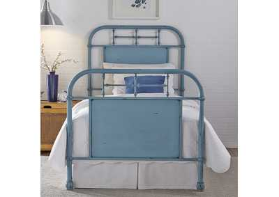 Image for Vintage Series Full Metal Bed - Blue