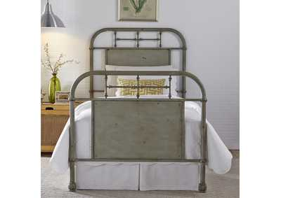 Image for Vintage Series Full Metal Bed - Green