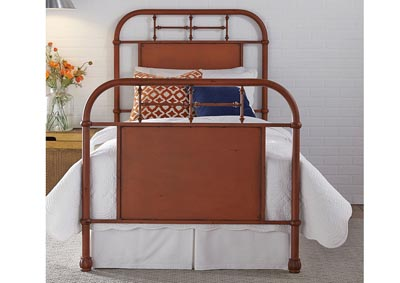 Image for Vintage Series Full Metal Bed - Orange