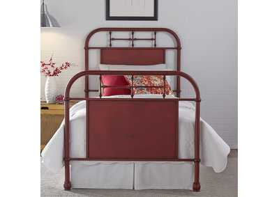 Image for Vintage Series Full Metal Bed - Red