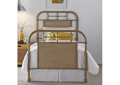 Image for Vintage Series Full Metal Bed - Vintage Cream