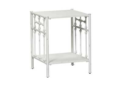 Image for Vintage Series Distressed Metal Open Night Stand - Antique White