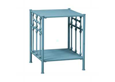 Image for Vintage Series Distressed Metal Open Night Stand - Blue