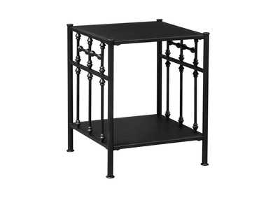Image for Vintage Series Distressed Metal Open Night Stand - Black
