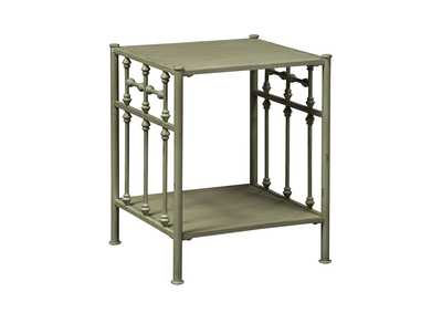 Image for Vintage Series Distressed Metal Open Night Stand - Green