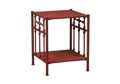 Image for Vintage Series Distressed Metal Open Night Stand - Red