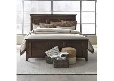 Image for Saddlebrook Tobacco Queen Panel Bed
