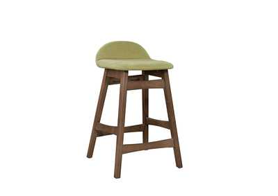 Image for Space Savers Satin Walnut Barstool30 - Green (RTA)
