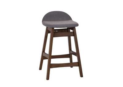 Image for Space Savers Satin Walnut Barstool30 - Grey (RTA)