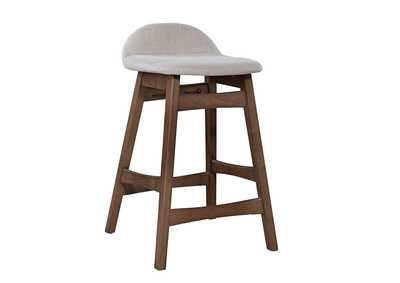 Image for Space Savers Satin Walnut Barstool30 - Light Tan (RTA)