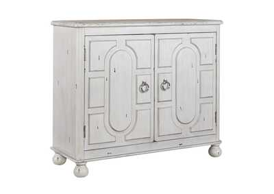 Image for Kirkwood Antique White 2 Door Accent Cabinet