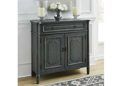 Image for Madison Park Gray 1 Drawer 2 Door Accent Cabinet