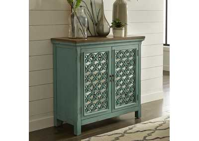 Image for Kensington Turquoise 2 Door Accent Cabinet