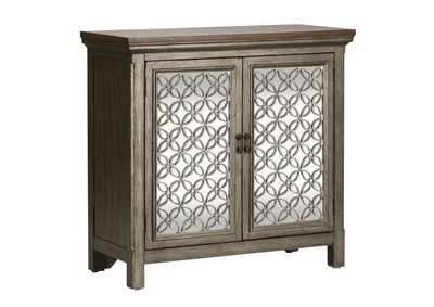 Image for Westridge White Dusty Wax 2 Door Accent Cabinet