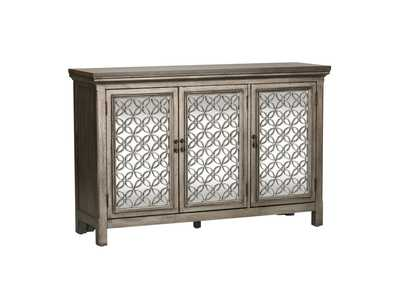Image for Westridge White Dusty Wax 3 Door Accent Cabinet