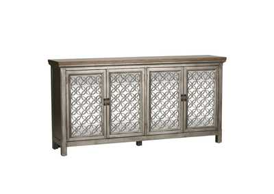 Image for Westridge White Dusty Wax 4 Door Accent Cabinet