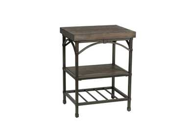 Image for Franklin Rustic Brown Chair Side Table